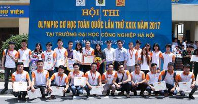 Tuyên dương và trao học bổng cho sinh viên đạt giải Olympic Cơ học Toàn quốc lần thứ XXIX – 2017