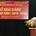 Học viên Nguyễn Xuân Phương đại diện Khóa học phát biểu tại lễ khai giảng